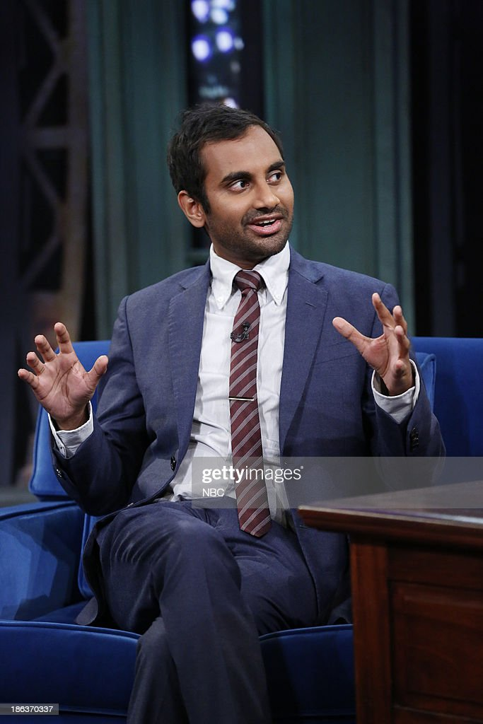 <a gi-track='captionPersonalityLinkClicked' href=/galleries/search?phrase=Aziz+Ansari&family=editorial&specificpeople=4266146 ng-click='$event.stopPropagation()'>Aziz Ansari</a> on Wednesday, October 30, 2013 --