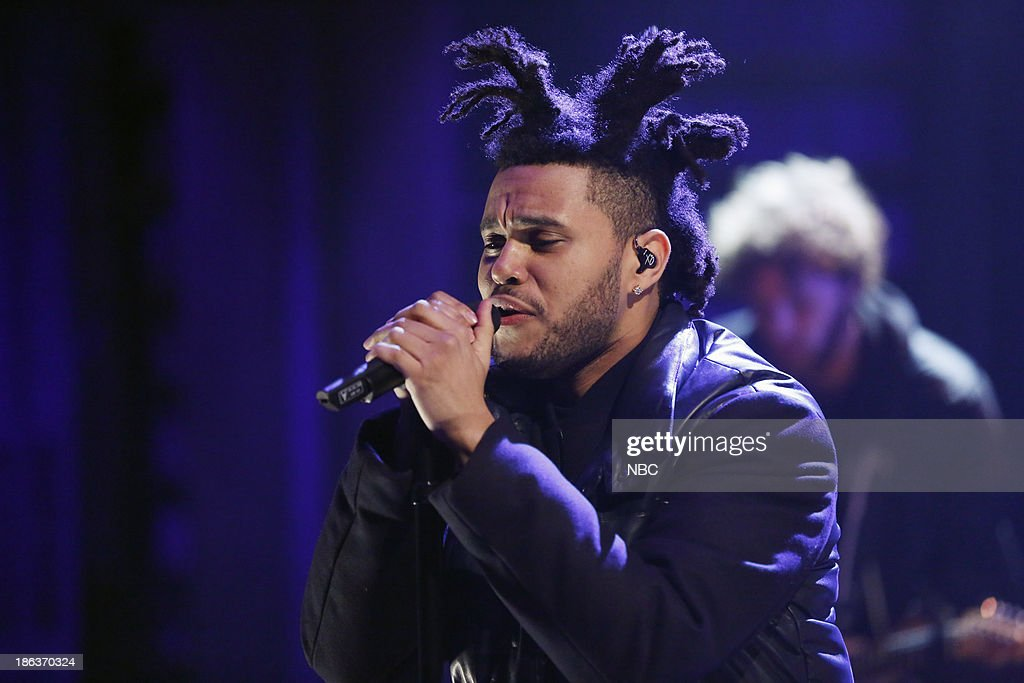 Music guest <a gi-track='captionPersonalityLinkClicked' href=/galleries/search?phrase=The+Weeknd+-+Musician&family=editorial&specificpeople=8008743 ng-click='$event.stopPropagation()'>The Weeknd</a> performs on Wednesday, October 30, 2013 --