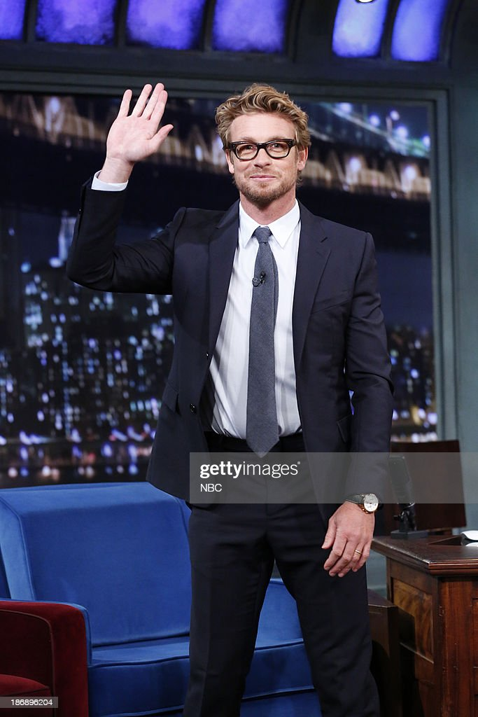 Actor <a gi-track='captionPersonalityLinkClicked' href=/galleries/search?phrase=Simon+Baker&family=editorial&specificpeople=206176 ng-click='$event.stopPropagation()'>Simon Baker</a> arrives on Monday, November 4, 2013 --
