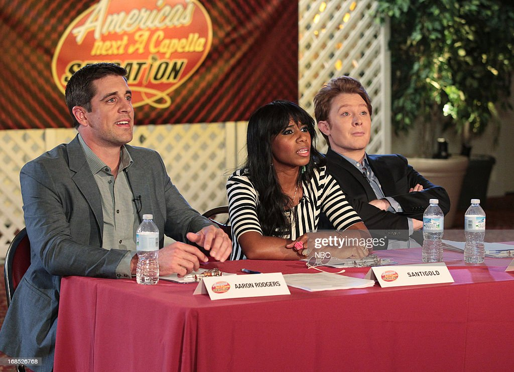 Aaron Rodgers as himself, Santigold as herself, Clay Aiken as himself --