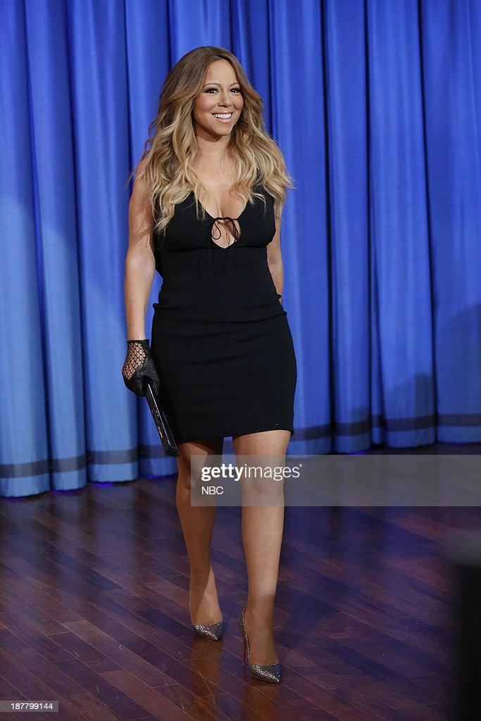 Mariah Carey arrives on Tuesday, November 12, 2013--