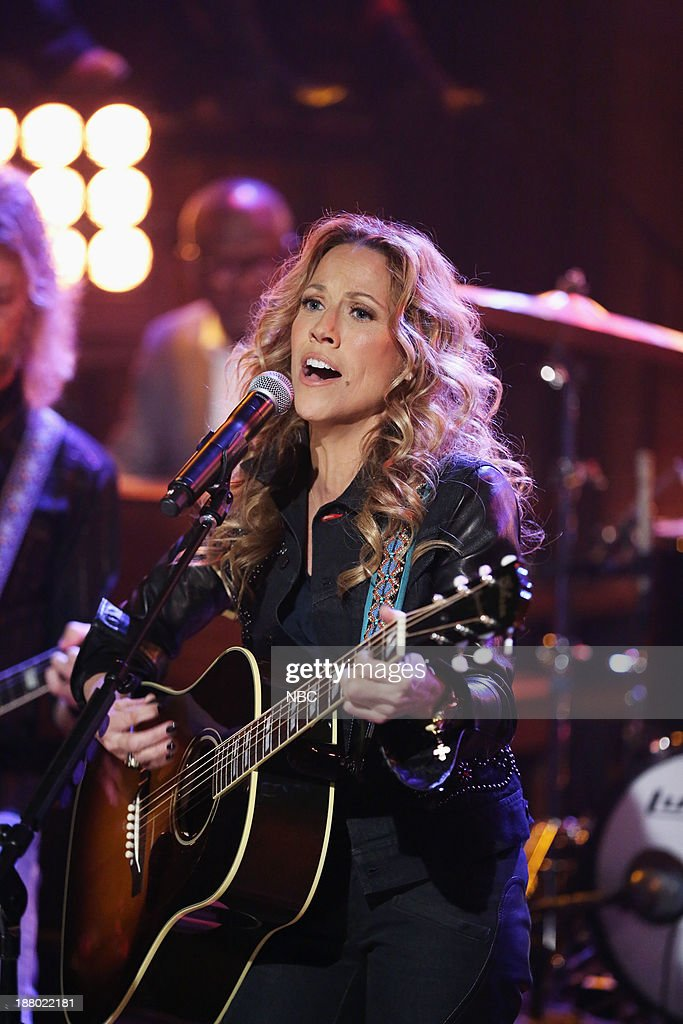 Musical guest Sheryl Crow performs 'Callin Me When Im Lonely' with The Roots on Thursday, November 14, 2013--