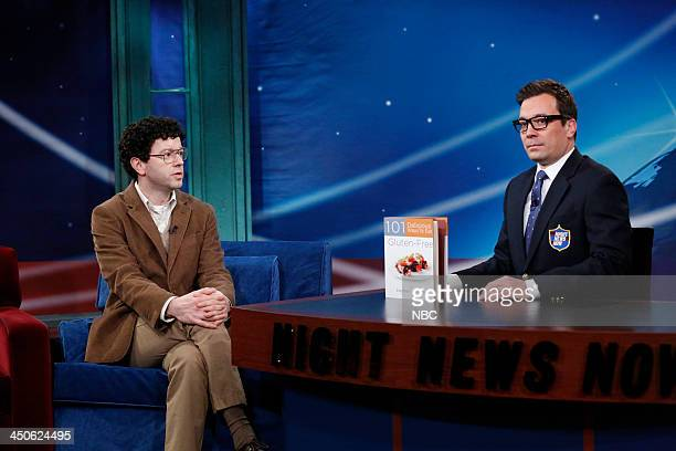 Host Jimmy during the 'Night News Now' segment on Tuesday November 19 2013