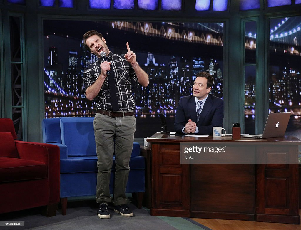 Will Forte with host Jimmy Fallon during an interview on Wednesday, November 20, 2013 --