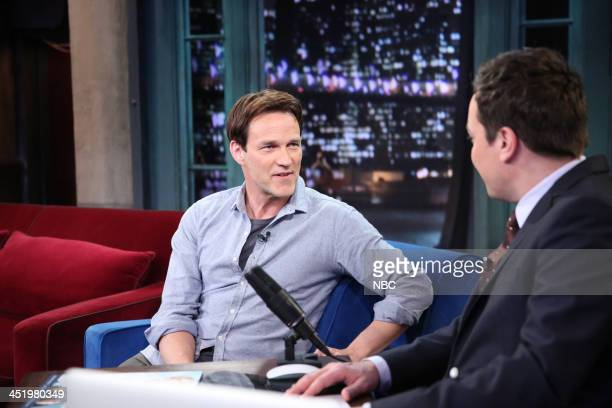 Stephen Moyer with host Jimmy Fallon during an interview on Monday November 25 2013