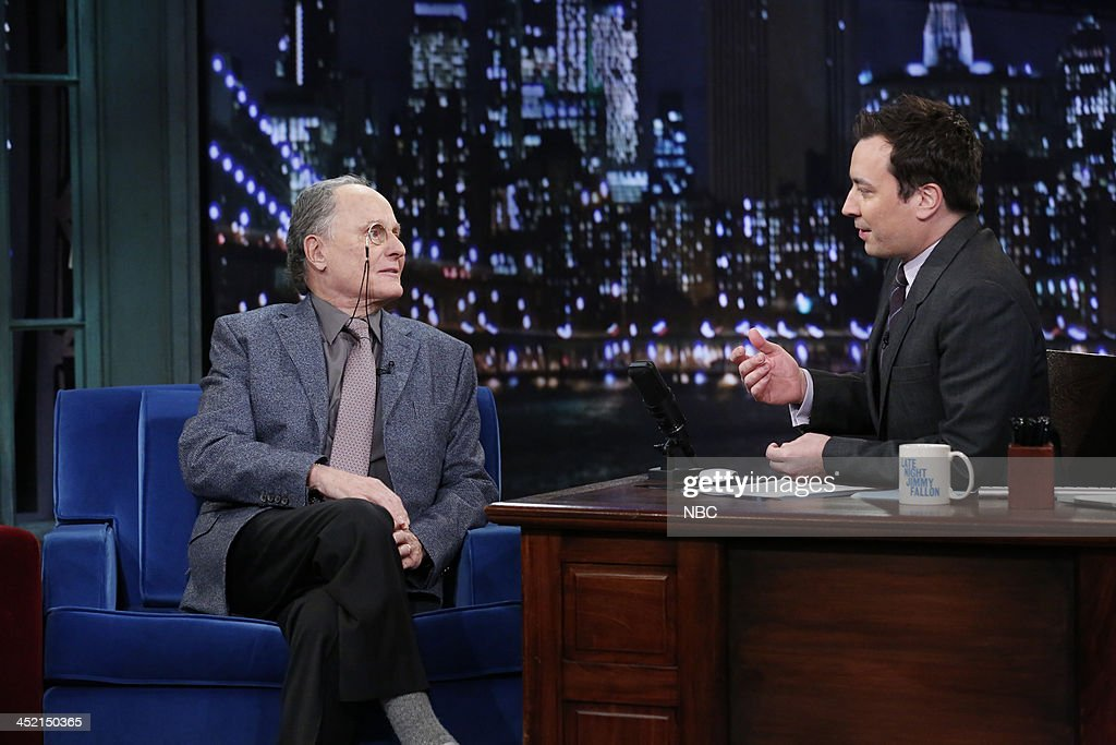 Budd Friedman with host Jimmy Fallon during an interview on Tuesday, November 26, 2013 --