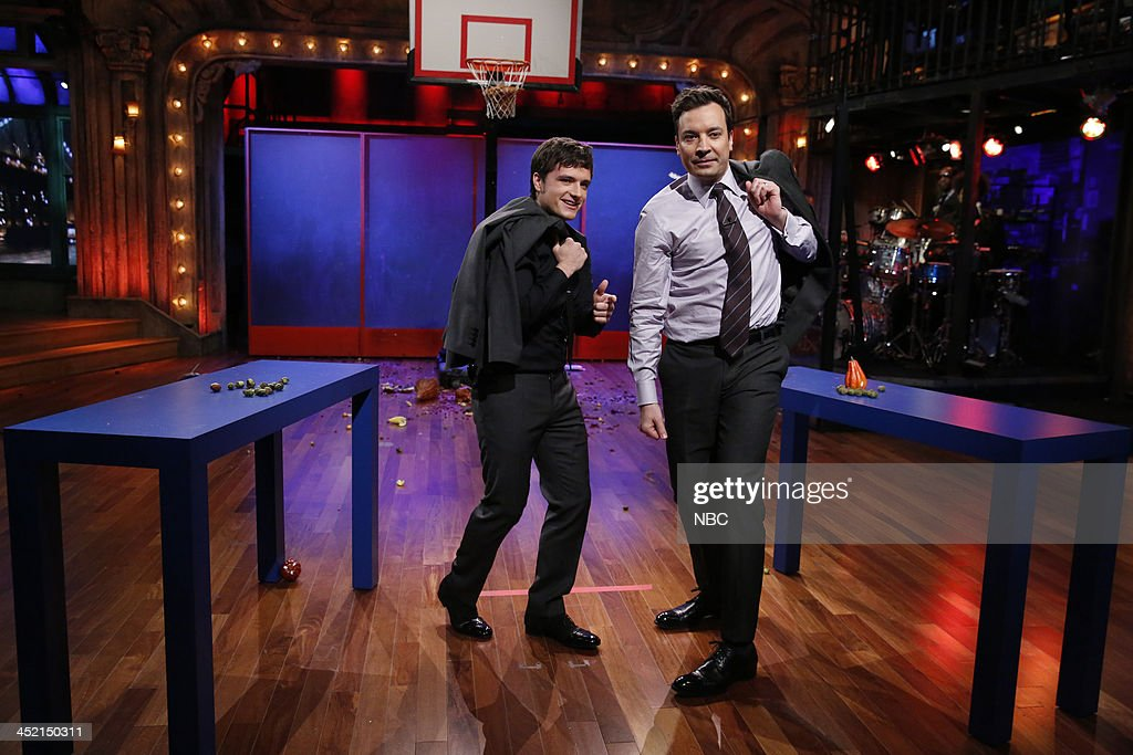Jimmy and <a gi-track='captionPersonalityLinkClicked' href=/galleries/search?phrase=Josh+Hutcherson&family=editorial&specificpeople=673588 ng-click='$event.stopPropagation()'>Josh Hutcherson</a> on Tuesday, November 26, 2013 --