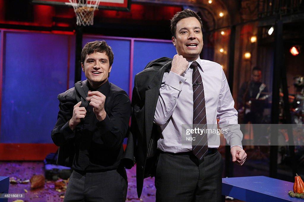 Jimmy and Josh Hutcherson on Tuesday, November 26, 2013 --