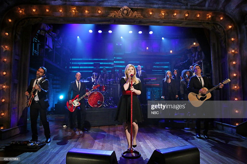 Music guest Kelly Clarkson performs 'Don't Rush' on Tuesday, November 26, 2013 --