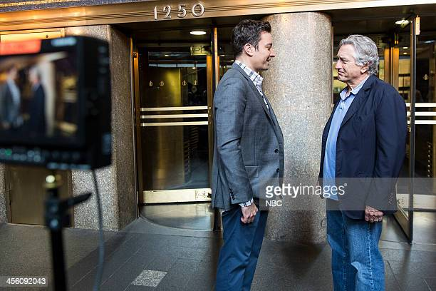Jimmy Fallon Robert De Niro during the De Niro vs Revolving Door skit on Thursday December 12 2013