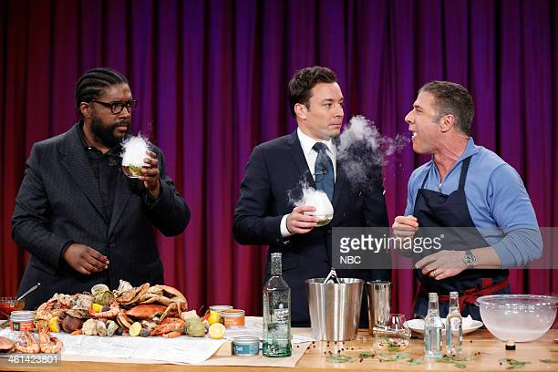 Jimmy and Questlove cook with Chef Michael Chiarello on Wednesday January 8 2014