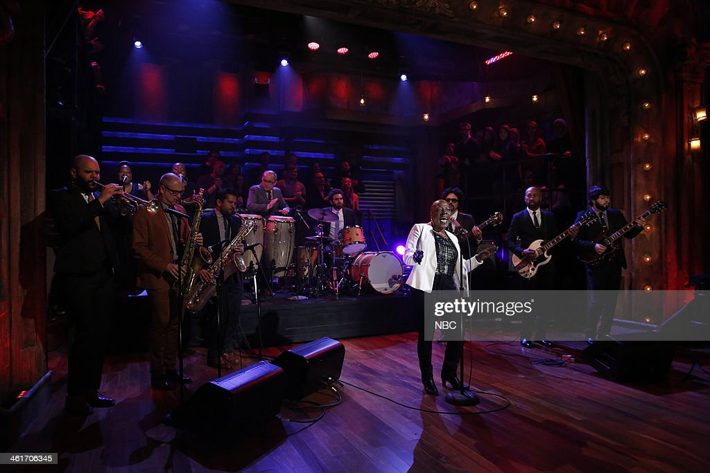 Musical guest Sharon Jones and The Dap-Kings perform 'Stranger to my Happiness' on Friday, January 10, 2014 --