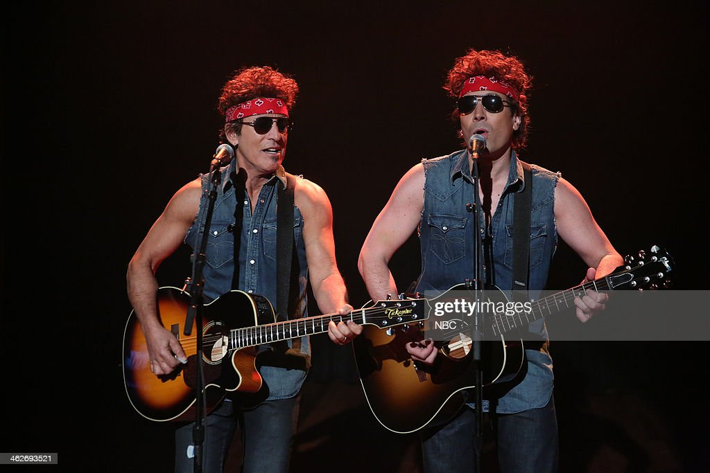 <a gi-track='captionPersonalityLinkClicked' href=/galleries/search?phrase=Bruce+Springsteen&family=editorial&specificpeople=123832 ng-click='$event.stopPropagation()'>Bruce Springsteen</a> and <a gi-track='captionPersonalityLinkClicked' href=/galleries/search?phrase=Jimmy+Fallon&family=editorial&specificpeople=171520 ng-click='$event.stopPropagation()'>Jimmy Fallon</a> perform 'Gov. Christie Traffic Jam' on Tuesday, January 14, 2014--