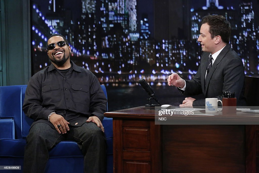 Ice Cube with host Jimmy Fallon during an interview on Wednesday, January 15, 2014--