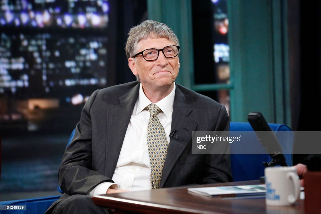 Microsoft founder <a gi-track='captionPersonalityLinkClicked' href=/galleries/search?phrase=Bill+Gates&family=editorial&specificpeople=202049 ng-click='$event.stopPropagation()'>Bill Gates</a> on Tuesday, January 21, 2014 --