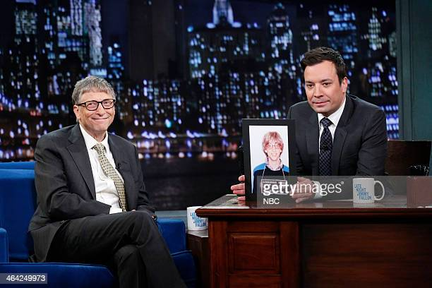 Microsoft founder Bill Gates with host Jimmy Fallon during an interview on Tuesday January 21 2014
