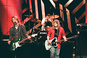 John Rzeznik Mike Malinin and Robby Takac of the musical guest Goo Goo Dolls on August 8 1996