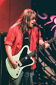 Robby Takac of the musical guest Goo Goo Dolls performs on August 8 1996