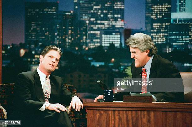 Professional baseball player Brett Butler during an interview with host Jay Leno on September 5 1996