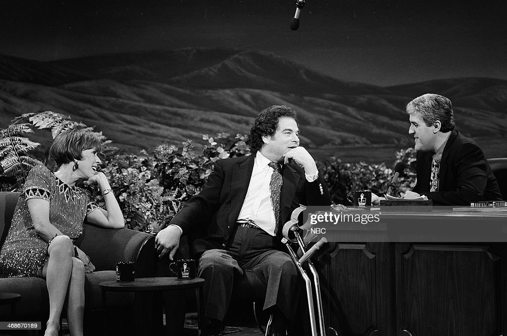 Actress Carol Burnett, violinist Itzhak Perlman during an interview with host Jay Leno on January 8, 1993 --