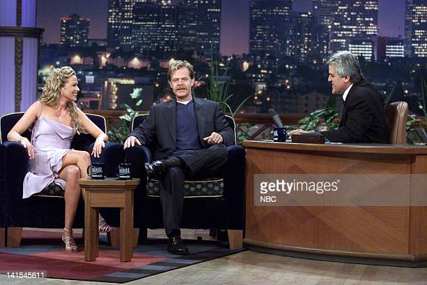 Actress Lauren Holly and actor William H Macy during an interview with host Jay Leno on September 131999 Photo by NBC/NBCU Photo Bank