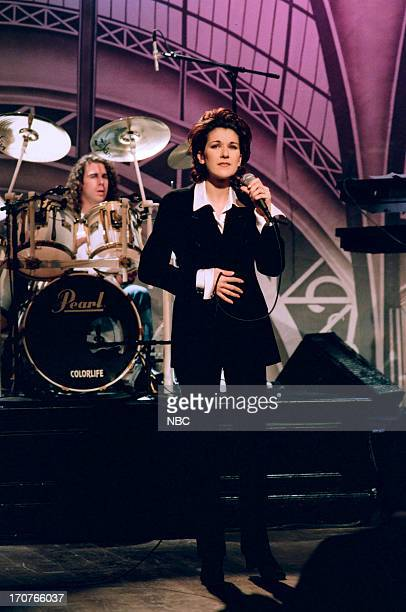 Musical guest Celine Dion performs on November 21 1994