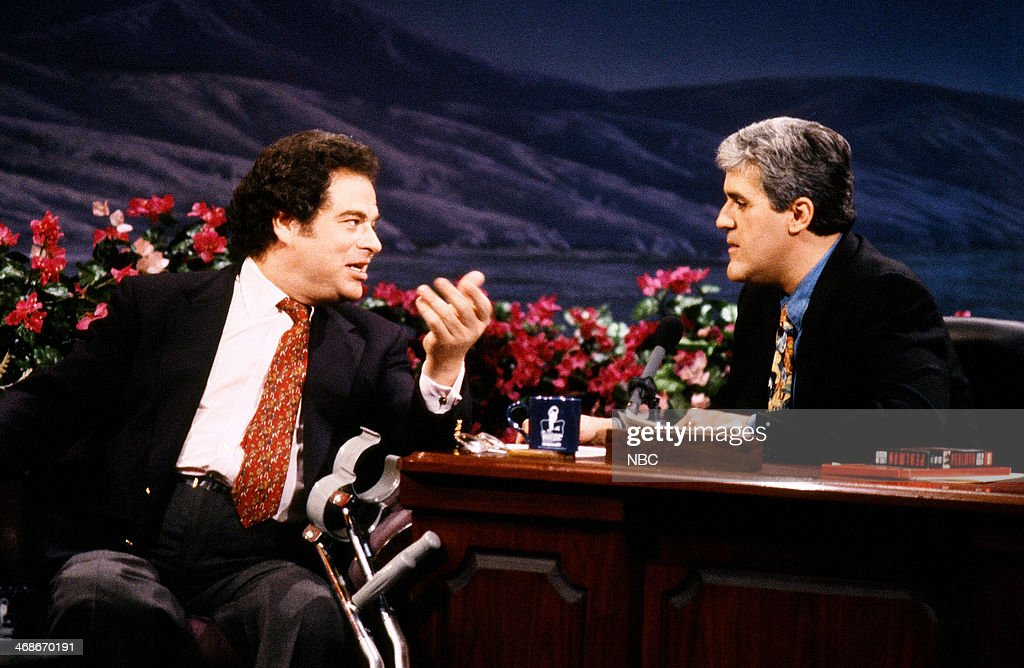 Violinist Itzhak Perlman during an interview with host Jay Leno on January 8, 1993 --