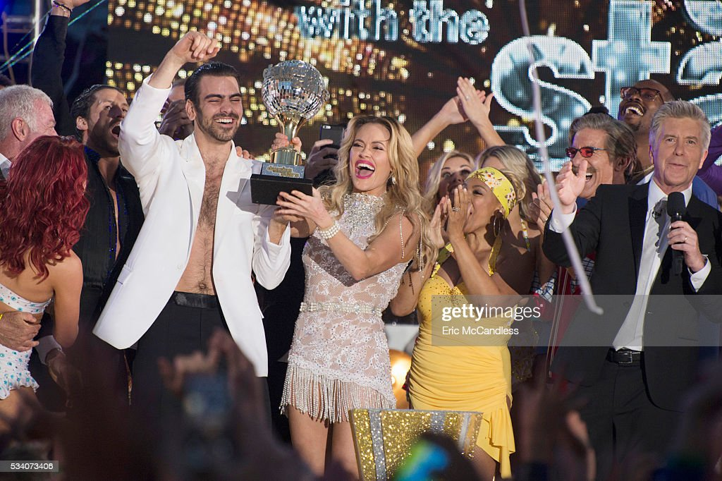 STARS - 'Episodes 2210A' - It's the closest race ever with some of the best dancing celebrities have ever pulled off. Ginger Zee and Valentin Chmerkovskiy, <a gi-track='captionPersonalityLinkClicked' href=/galleries/search?phrase=Nyle+DiMarco&family=editorial&specificpeople=14889249 ng-click='$event.stopPropagation()'>Nyle DiMarco</a> and <a gi-track='captionPersonalityLinkClicked' href=/galleries/search?phrase=Peta+Murgatroyd&family=editorial&specificpeople=6824437 ng-click='$event.stopPropagation()'>Peta Murgatroyd</a>, and Paige VanZant and Mark Ballas have one last night of competitive dancing, vying to win the judges' and America's votes to be crowned the 'Dancing with the Stars' champion, culminating an incredible season, announced live TUESDAY, MAY 24 (9:00-11:00 p.m. EDT), on the ABC Television Network. NYLE
