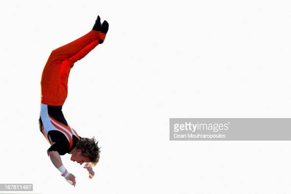 Epke Jan Zonderland OON the Dutch gymnast and 2012 Olympic gold medalist performs for King Willem Alexander Queen Maxima and their daughters Princess...