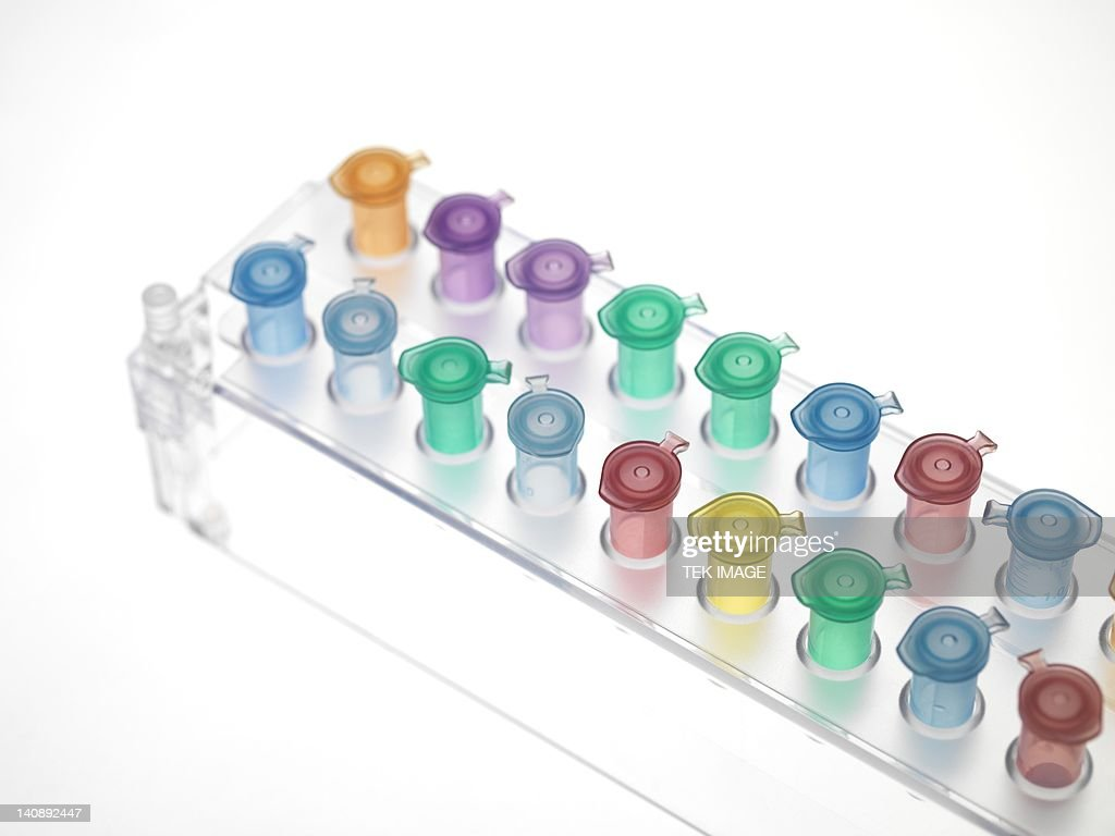 Eppendorf tubes : Stock Photo