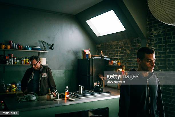 MR ROBOT 'eps27_init_5fve' Episode 209 Pictured Christian Slater as Mr Robot Rami Malek as Elliot Alderson