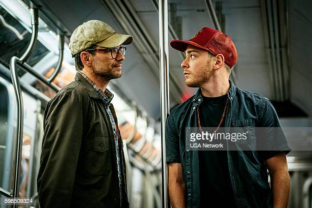 MR ROBOT 'eps27_init_5fve' Episode 209 Pictured Christian Slater as Mr Robot Michael Drayer as Cisco