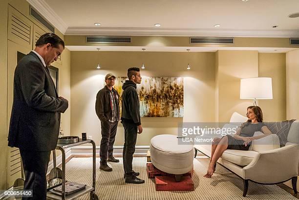 MR ROBOT 'eps28_h1ddenpr0cessaxx' Episode 210 Pictured Jeremy Holm as Mr Sutherland Christian Slater as Elliot Alderson Stephanie Corneliussen as...