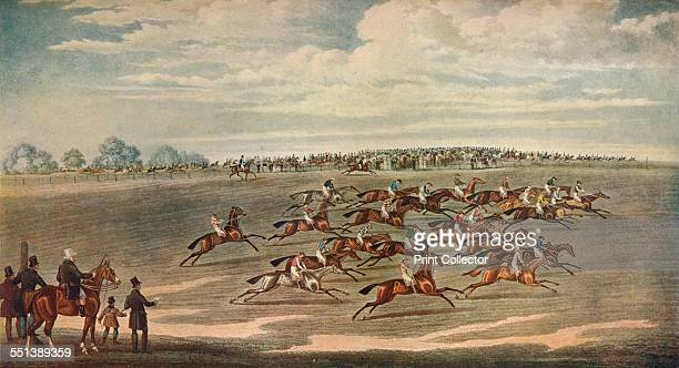 'Epsom Races' 19th century After James Pollard From Connoisseur Extra No 5 Old Sporting Prints by Ralph Nevill [The Connoisseur Magazine London 1908]