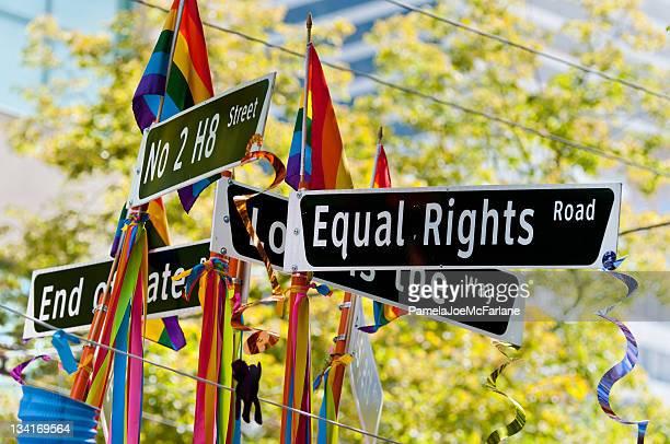 Gleiche Rechte Road Sign