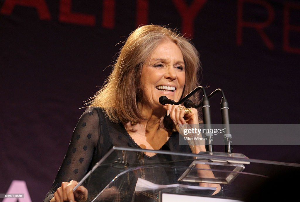 Equality Now boardmember <a gi-track='captionPersonalityLinkClicked' href=/galleries/search?phrase=Gloria+Steinem&family=editorial&specificpeople=213078 ng-click='$event.stopPropagation()'>Gloria Steinem</a> speaks onstage during Equality Now presents 'Make Equality Reality' at Montage Hotel on November 4, 2013 in Los Angeles, California.