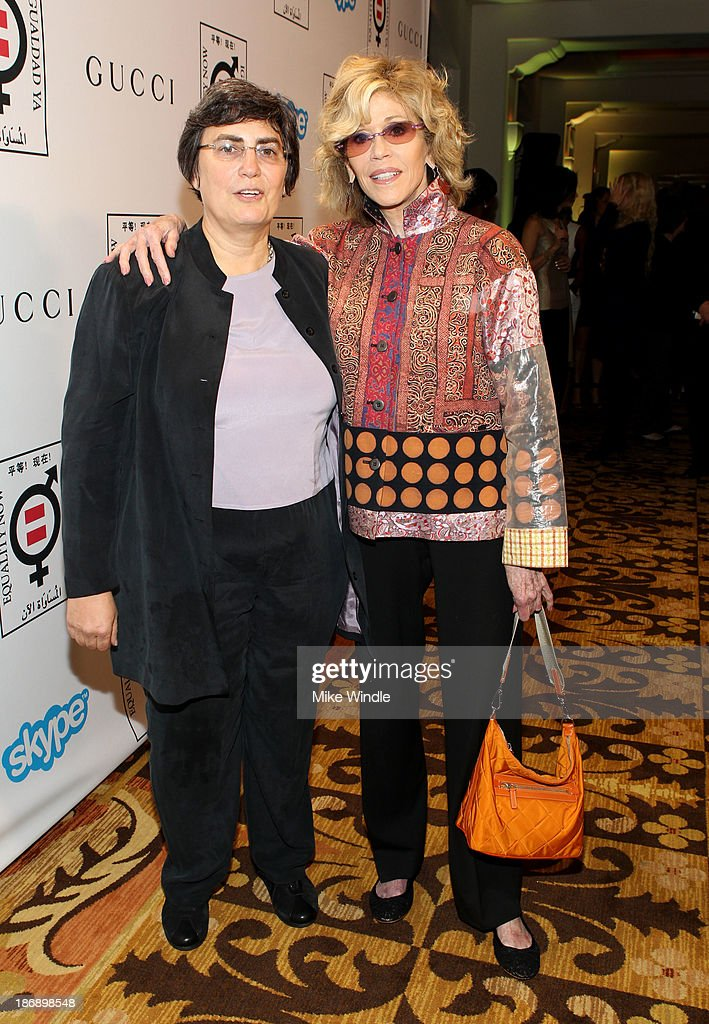 Equality Now President Jessica Neuwirth and actress <a gi-track='captionPersonalityLinkClicked' href=/galleries/search?phrase=Jane+Fonda&family=editorial&specificpeople=202174 ng-click='$event.stopPropagation()'>Jane Fonda</a> attend Equality Now presents 'Make Equality Reality' at Montage Hotel on November 4, 2013 in Los Angeles, California.