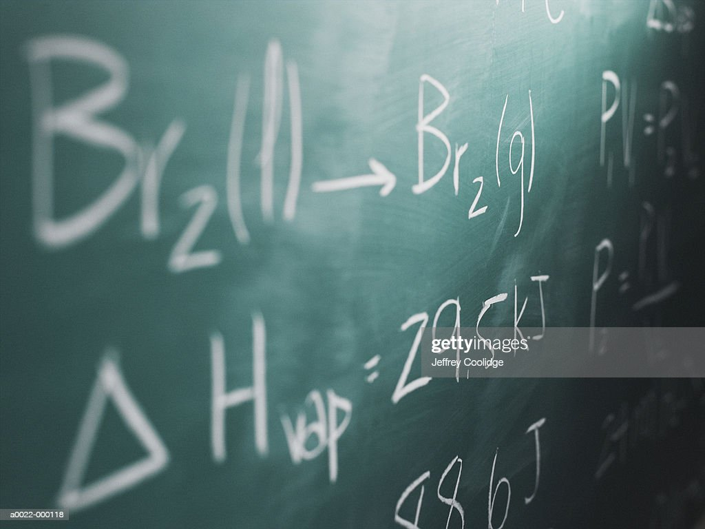 Equations on Blackboard : Stock Photo