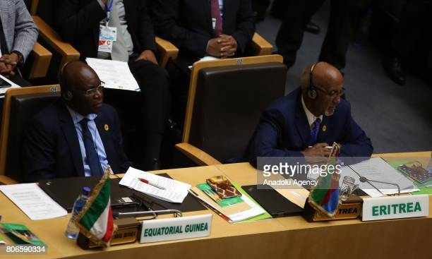 Equatorial Guinea's Foreign Minister Agapito Mba Mokuy attends the opening session of 29th African Union Summit in Addis Ababa Ethiopia on July 3 2017