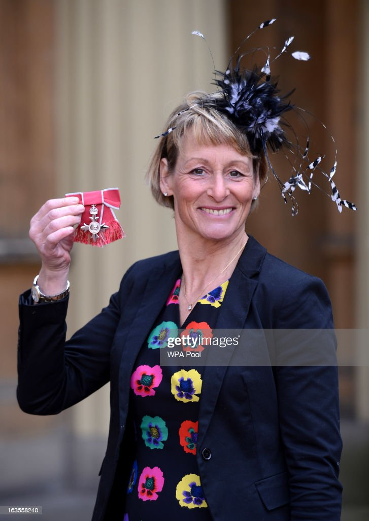 Equestrian and Olympian Mary King at Buckingham Palace where she received an MBE during an investiture ceremony on March 12, 2013 in London, England.