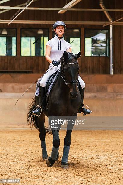 Equestrian Hall Teenage Girl Dressage Riding