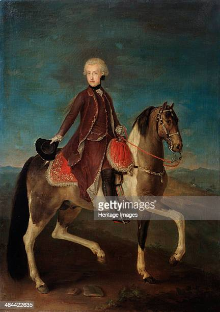 Equestrian portrait of Empress Maria Theresia of Austria 18th century Found in the collection of the State A Pushkin Museum of Fine Arts Moscow
