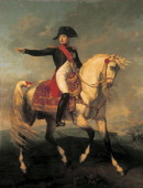 Equestrian portrait of Napoleon I by Joseph Chabord oil on canvas Napoleonic era France 19th century
