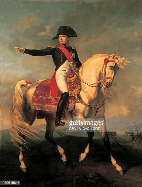 Equestrian portrait of Napoleon I by Joseph Chabord oil on canvas Napoleonic era France 19th century