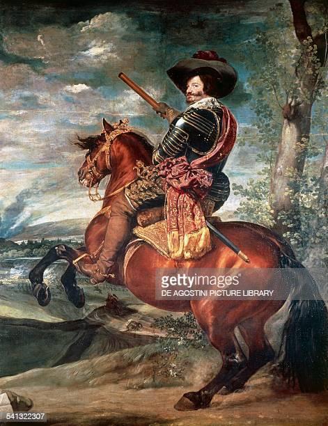 Equestrian portrait of the Count of Olivares Gaspar de Guzman y Pimentel Ribera y Velasco de Tovar by Diego Rodriguez de Silva y Velazquez oil on...