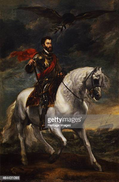 Equestrian portrait of the Emperor Charles V c 1620 Found in the collection of the Galleria degli Uffizi Florence