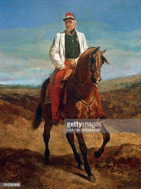 Equestrian portrait of Thomas Robert Bugeaud marshal of France and GovernorGeneral of Algeria oil on canvas Paris Musée De L'Armée