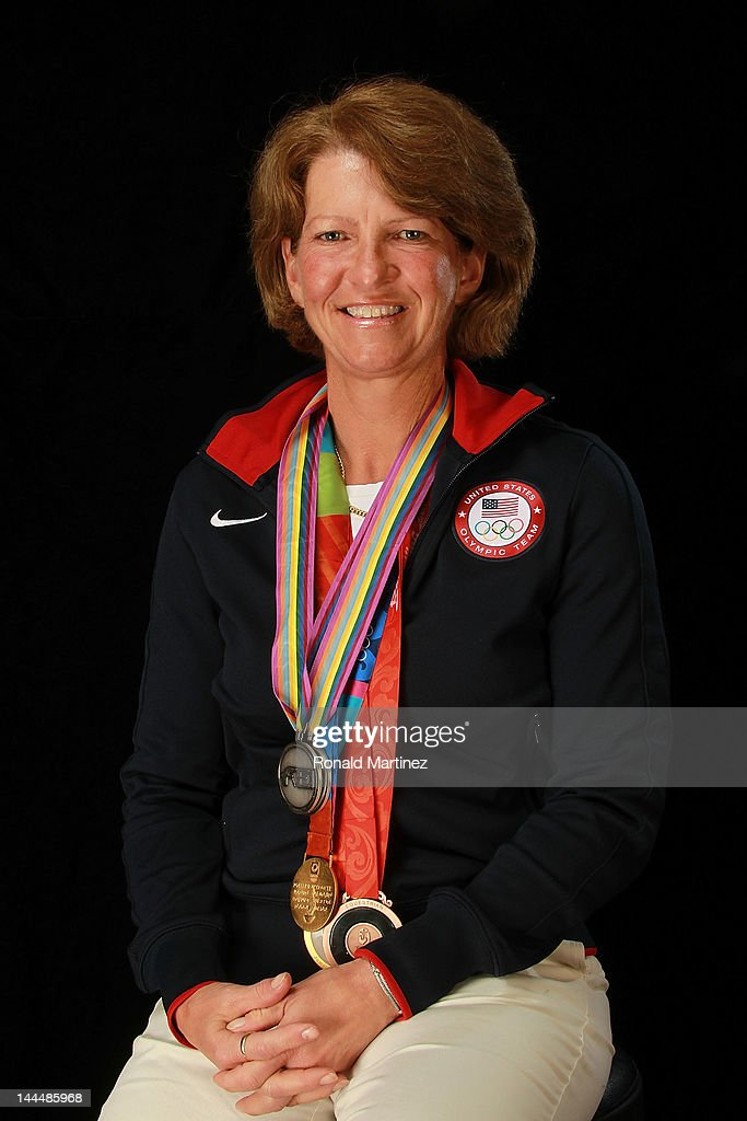 Equestrian team member, <a gi-track='captionPersonalityLinkClicked' href=/galleries/search?phrase=Beezie+Madden&family=editorial&specificpeople=628976 ng-click='$event.stopPropagation()'>Beezie Madden</a>, poses for a portrait during the 2012 Team USA Media Summit on May 14, 2012 in Dallas, Texas.