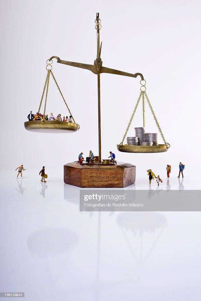Equilibrium economic : Stock Photo