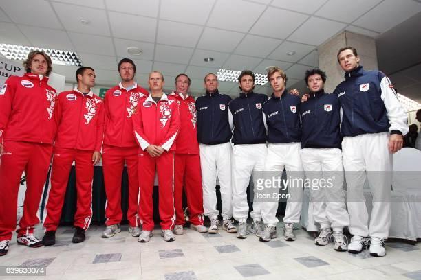 Equipe de France et de Russie Tirage au sort Russie / France Coupe Davis